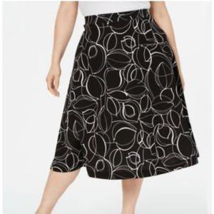 Alfani 16W Plus Size Leaves Midi Skirt